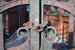 iron gate with lock
